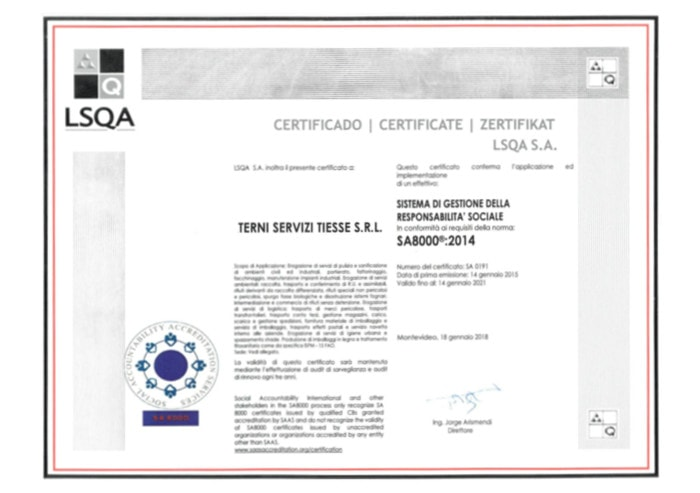 lsqa Tiesse certificate